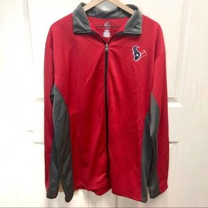 Majestic Houston Texans Red Jacket Large Tall